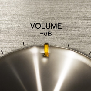 Volume button indicating volume - sound power level